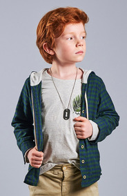 Camisa Xadrez Infantil Masculina Verde