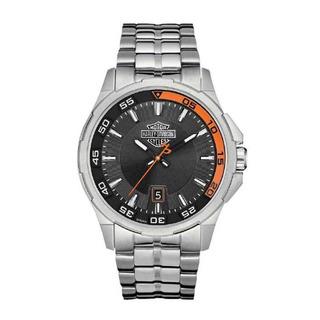 Relógio Harley-davidson Pulseira Em Aço Modelo 76b170