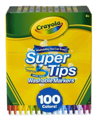 Crayola Super Tips 100 Plumones En Stock Original- Lettering