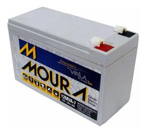 Bateria 12v 7ah/20h Selada Moura Para Nobreak Alarme E Cerca