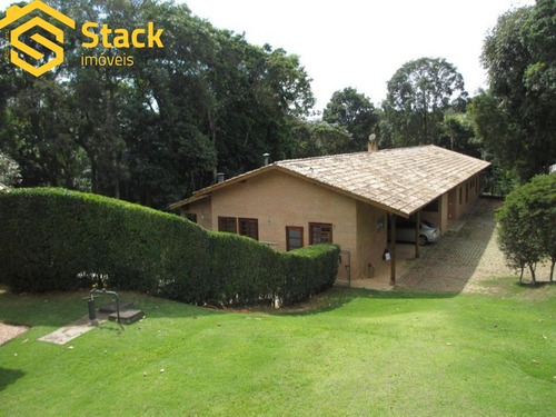 Imagem 1 de 30 de Casa Térrea A Venda Em Jundiaí Com Estilo Rústico No Condomínio Parque Dos Manacás Na Região Do Bairro Caxambu. - Ca01814