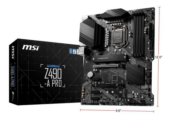 Motherboard Msi Z490-a Pro 10ma Generación S1200 Intel Ddr4