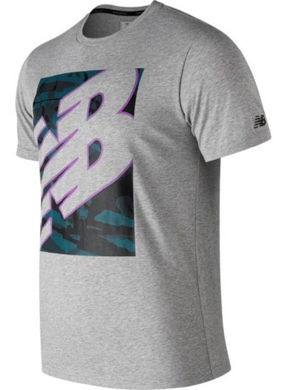 Remera New Balance Heather Tech Mt9108ag