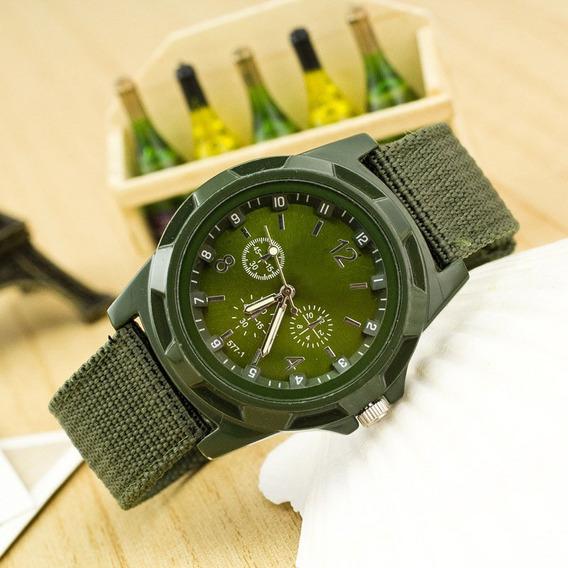 Relógio Militar Preto De Pulso Exército Moda Mesa Esportes