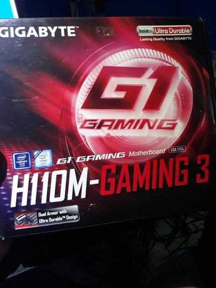 Placa Mãe Gamer Gigabyte H110m-gaming 3 Intel 1151 Ddr4
