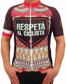 Jersey Remera Ciclismo Respeta Al Ciclista