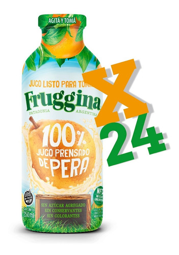 Jugo Listo Para Tomar Fruggina Pera Pack X 24