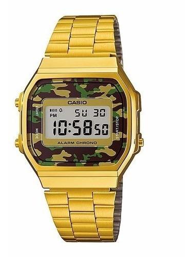 Relógio Vintage Military Casio - Dourado Original + Brinde