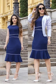 Lindo Vestido Moda Evangelica Tubinho Peplum Cod#ppl