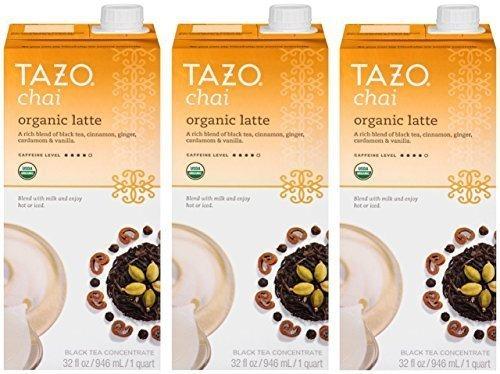 Tazo Chai Latte Concentrado De Té Orgánico De 32 Onzas Cajas