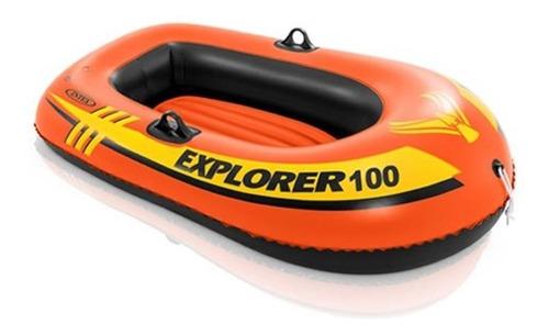 Bote Inflable Explorer 100 Sin Remos Ni Bomba 147 X 84 Cm