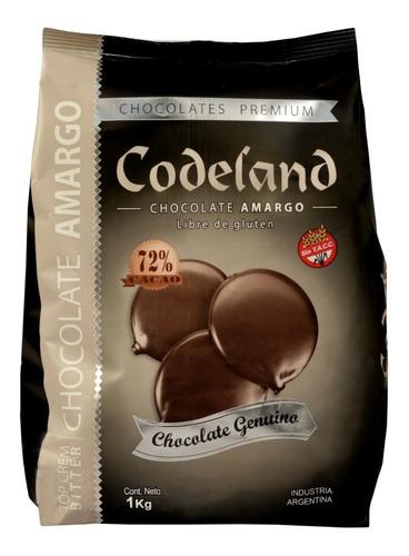 Chocolate Codeland Amargo 72% X 1 Kg