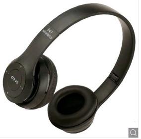 Fone De Ouvido Estéreo Dobrável Bluetooth - Preto
