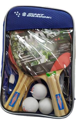 Imagen 1 de 3 de Raquetas / Malla / Pelotas Tenis Mesa Giant Dragon Ping Pong
