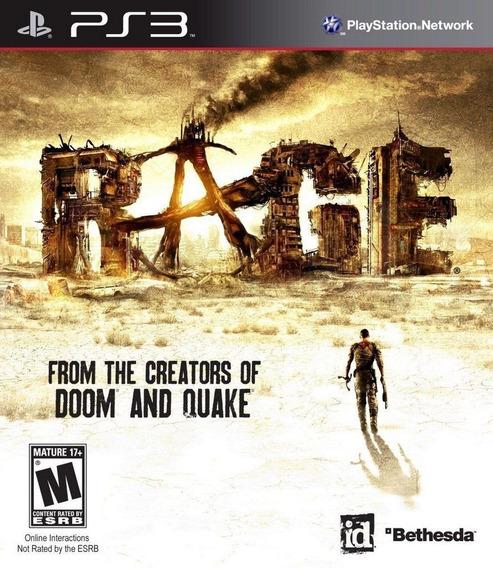 Jogo Rage - Bethesda Softworks - Ps3