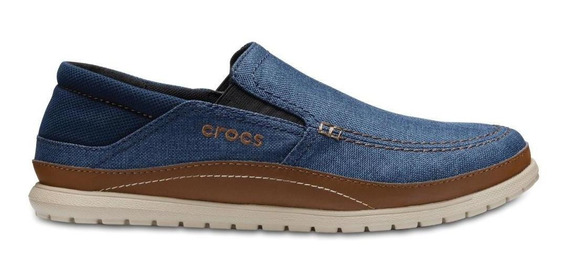 Crocs Santa Cruz Playa Slip-on Navy/cobblestone