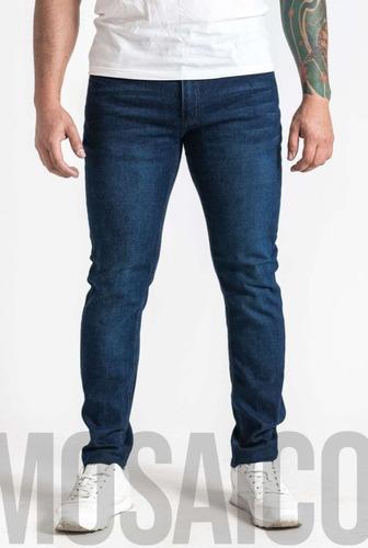 Imagen 1 de 3 de Pantalón Jeans Elasticado Hombre Skinny Semipitillo