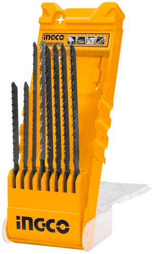 Imagen 1 de 4 de Kit 8 Hojas Sierras Para Caladora Madera Metal Ingco Akd8088