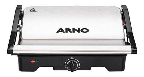 Grill Arno Dual Inox Antiaderente Controle De Temperatura