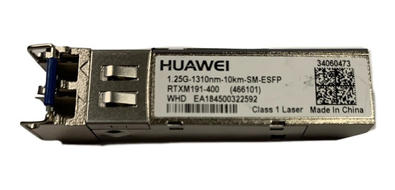 1 Unidade Módulo Mikrotik Gbic Esfp 1,25g 1310nm 10km Sm Duplex Lc Huawei Nf@