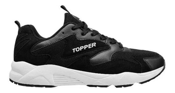 Zapatillas Topper Terrano Ii Lifestyle Negra 59623 Sku