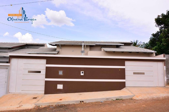 Excelente Casa À Venda Com 3 Dormitórios Por R$280.000 - Residencial Rio Jordão - Anápolis/go - Ca1456