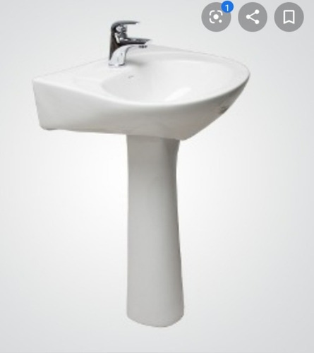 Lavamanos Pompano Con Pedestal Venceramica