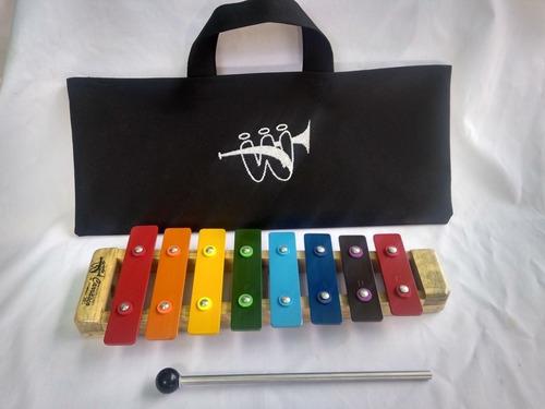 Xilofono Marimba 8 Notas De Colores W Carrasco