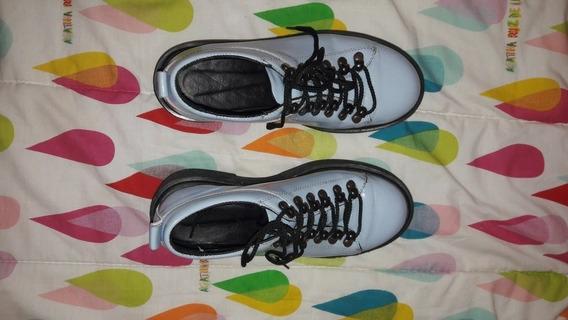 Zapato Abotinado 36 Mujer Cuero Briganti Charol Mccz03407 Ch