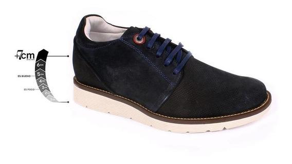 Zapato Casual Avenue Azul Max Denegri +7cms De Altura -30%