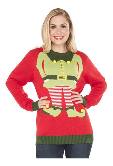 Suéter Feo Navidad Christmas Ugly Sweater Unisex Duende G