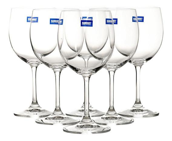 Set X 6 Copas Degustación De Cristal De Bohemia
