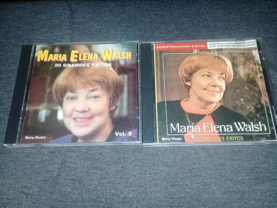 Lote 2 Cds Maria Elena Walsh - 20 Grandes Exitos