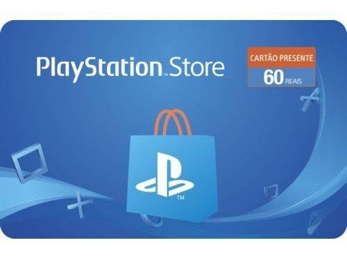 Gift Card Digital Sony Playstation Store Brasil Br R$ 60 Reais Psn
