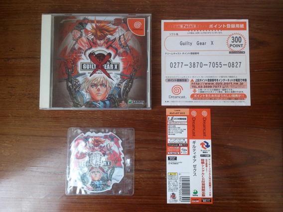 Guilty Gear X Dreamcast Japonês Completo Com Spine Card E Registro!!!