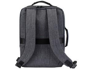 Backpack Maletin 2 En 1 Ghia 15.6 Gris/negra Mochila Escola
