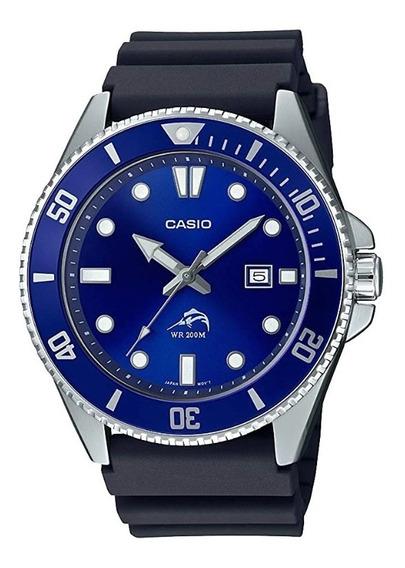 Relógio Casio Mdv106b-2a Casio Duro Azul - Pronta Entrega