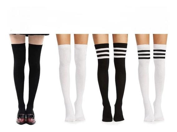 Medias Largas/bucaneras/al Muslo/calcetas/elasticadas
