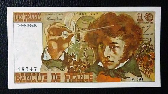 Francia Billete 10 Francos Xf- Tiene Agujeros Año 1974
