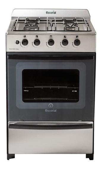 Cocina Escorial Master 4 hornallas multigas acero inoxidable 220V puerta visor