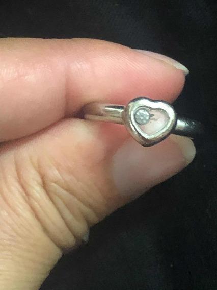Anel Chopard Original, Ouro Branco Com Diamante