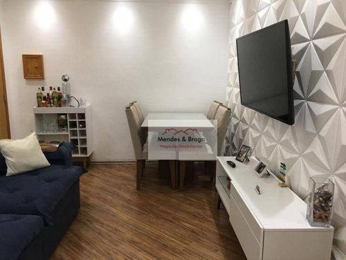 Imagem 1 de 21 de Apartamento À Venda, 58 M² Por R$ 179.000,00 - Portal Dos Gramados - Guarulhos/sp - Ap1062