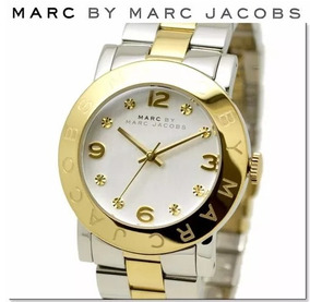 Relógio Marc Jacobs Prata E Dourado Original Novo Na Caixa