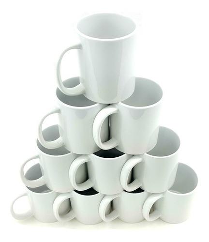 Mug Blanco X10 Pocillo Para Sublimar 11 Onzas Alta Calidad