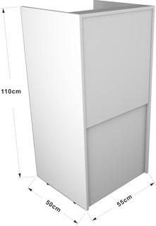 Balcão Caixa Atendimento Para Loja 55x110cm %100 Mdf Branco