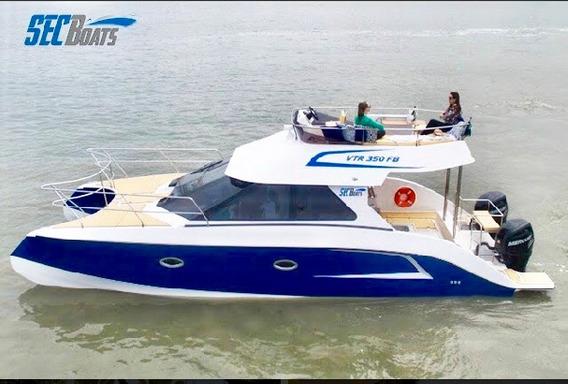 Catamarâ Com Fly E Motor De Popa 35 Pés