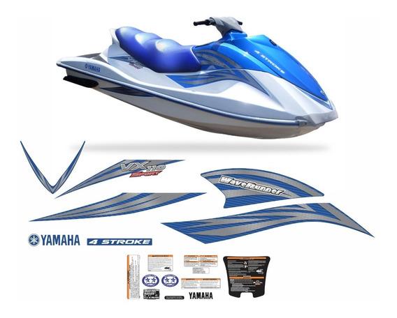 Kit Adesivos Jet Ski Yamaha Vx 110 Azul Sport 2011 Jtki30