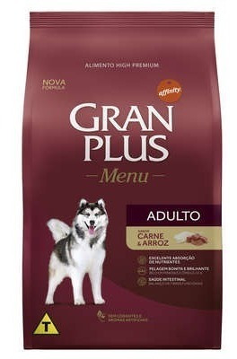 Ração Gran Plus Menu Carne E Arroz Cães Adultos 15kg