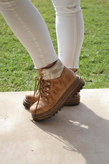 Zapatos Mujer Botas Botinetas Cuero