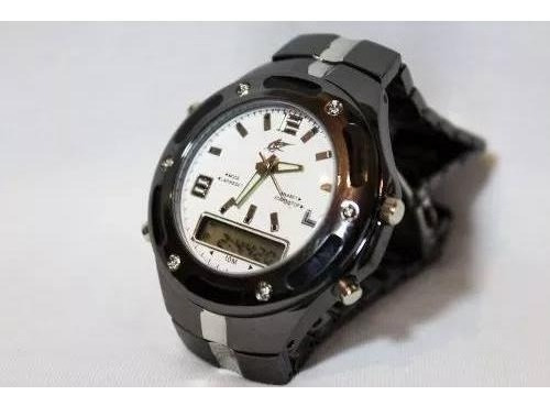 Relógio Potenzia Masculino Digital Analógico Pulso -